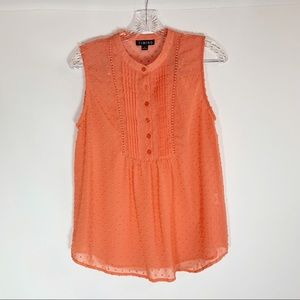🌼Timing Swiss Dot Sheer Sleeveless Blouse